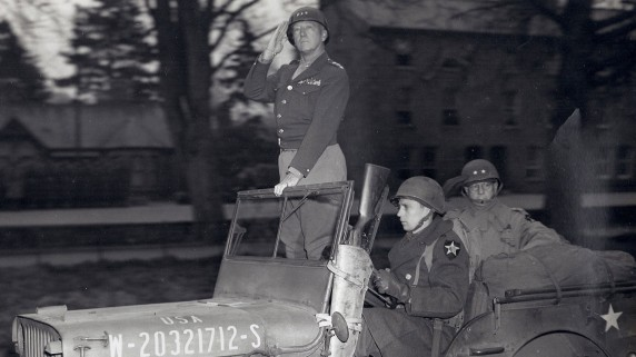 General Patton on The Mall, Armagh, April 1st 1945